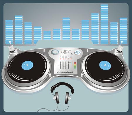 Nightclub mixing equipment Vector