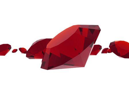 granate: Ruby gemas Foto de archivo