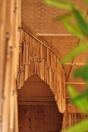 Bamboo curtains photo