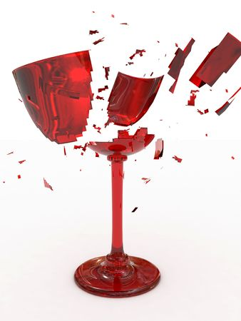 mishap: Broken wine glass