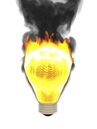 Burning lamp photo