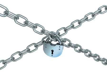 occlusion: Crossed chains with lock