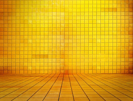 golden mosaic room, gold background Stock Photo - 10783269