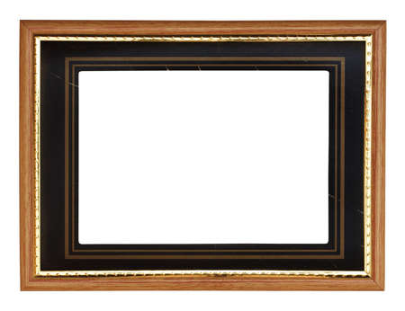 old photo-frame isolated on white background with clipping path photo