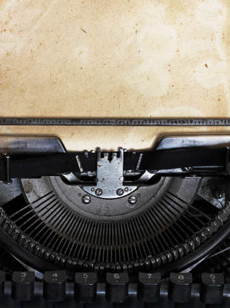 vintage typewriter with paper Stock Photo - 10783312