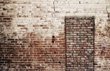 imbedded: old brick wall