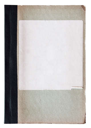 old notebook isolated on white background photo