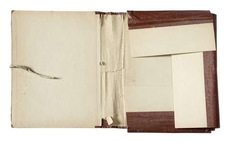 old folder isolated on white background photo