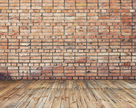 old room with brick wall, vintage background Stock Photo - 10813258