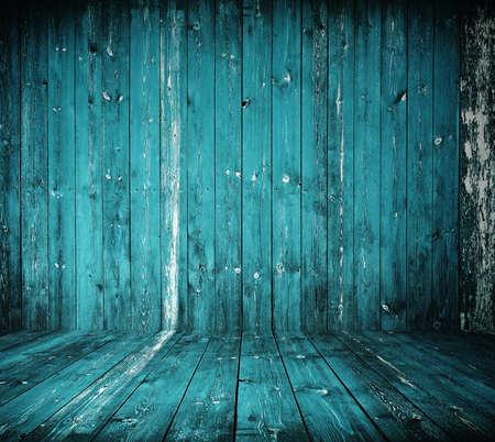 old grunge interior, blue wooden background Stock Photo - 10817942