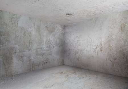 concrete room: corner of old grunge room
