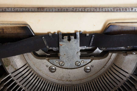 old typewriter with paper Stock Photo - 11087599