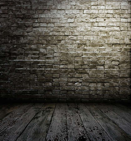old interior with brick wall Stock Photo - 11087639