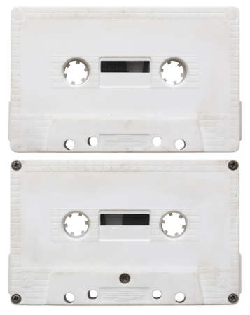 audio cassette isolated on white background. side 1 and 2 photo