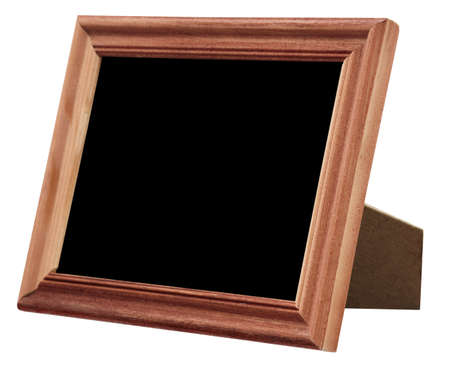 wooden photo frame isolated on white background photo