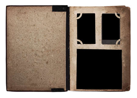 old photo album: old photo album isolated on white background