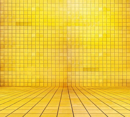 golden mosaic room, gold background  Stock Photo - 13041463
