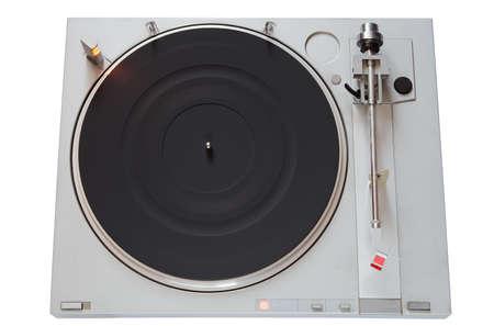 Vintage Vinyl player isolated on white background  photo