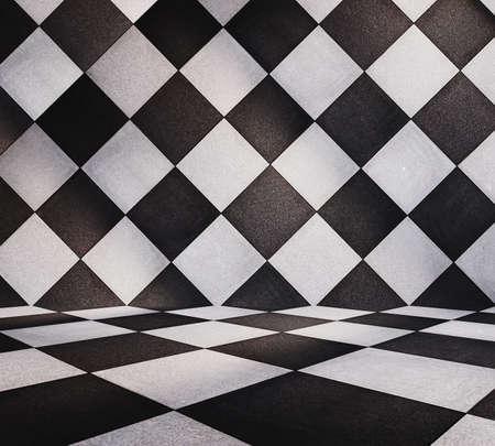 modern tiled room