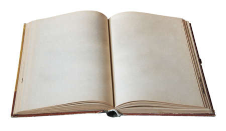 blank open book isolated on white background