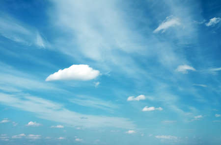 beautiful clouds, blue skycape photo