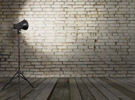 photo studio in old room with brick wall Stock Photo - 13711076