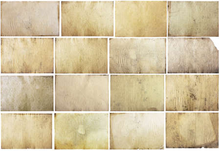 burnt paper: old papers set isolated on white background with clipping path