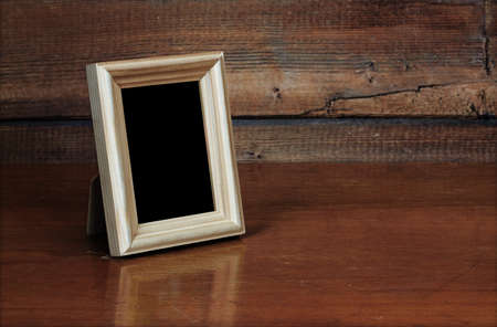 photo frame on old table  photo