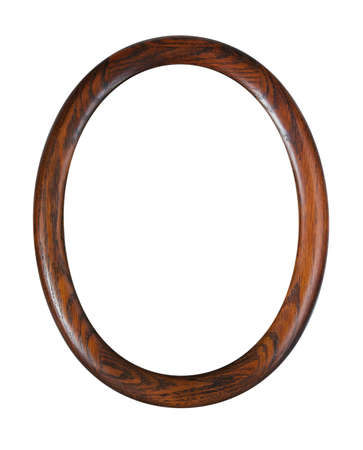 oval photo-frame isolated on white background
