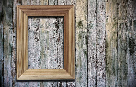 blank photoframe on old wooden background Stock Photo - 13748240