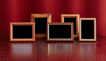 photo frames on red background photo