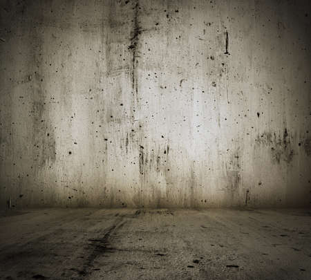 old grunge room with concrete wall, urban background Stock Photo - 13774704