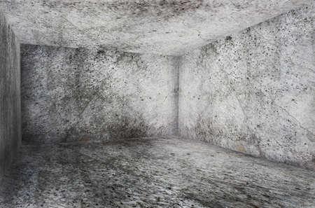 corner of old grunge interior  photo