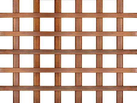 wooden  trellis,  lattice isolated on white background photo