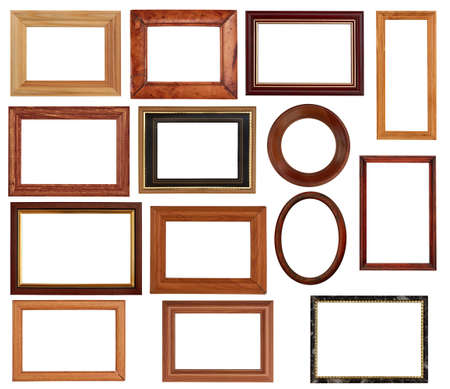 vintage frames set isolated on white background  photo