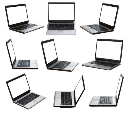 laptop on white background  photo