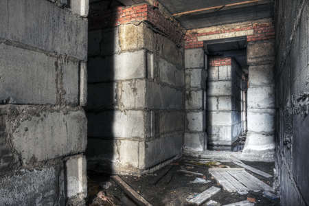abandoned corridor, urban background  photo