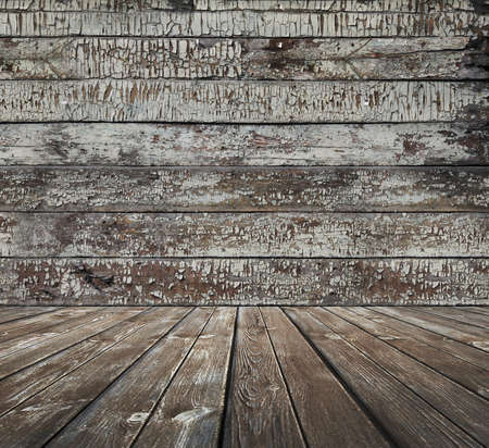 old wooden room, vintage background photo