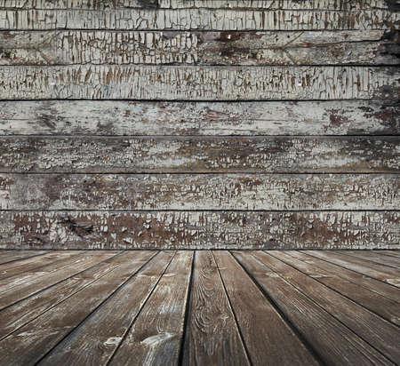 old wooden room, vintage background
