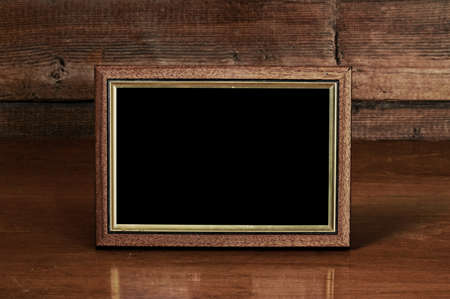 photo frame on old table Stock Photo - 15449615