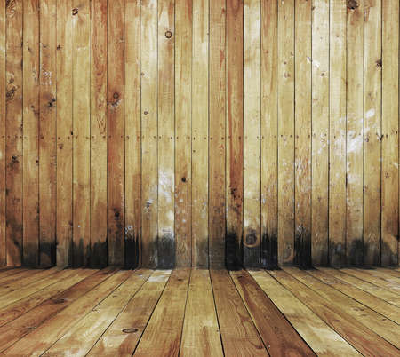 old grunge interior, wooden background photo