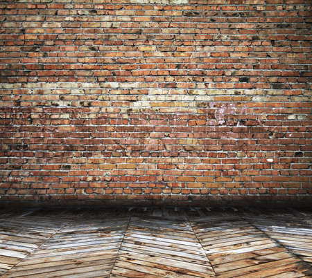 old room with brick wall, vintage background Фото со стока - 15482697