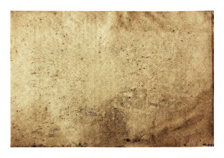 burnt paper: old paper isolated on white background  Stock Photo
