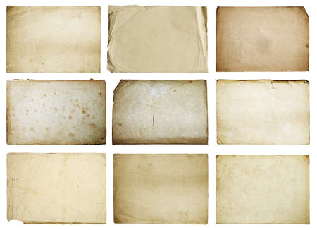 paper background: old papers set isolated on white background