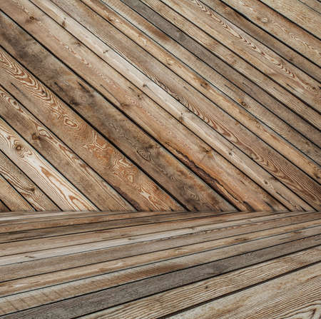 old room, wooden wall Stock Photo