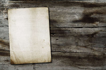 vintage paper on old wood texture Stock Photo - 15846952