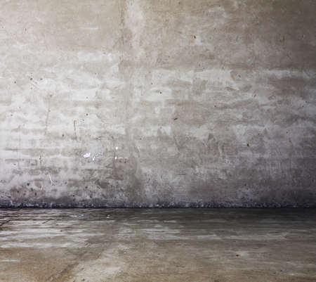 old grunge room with concrete wall, urban background photo