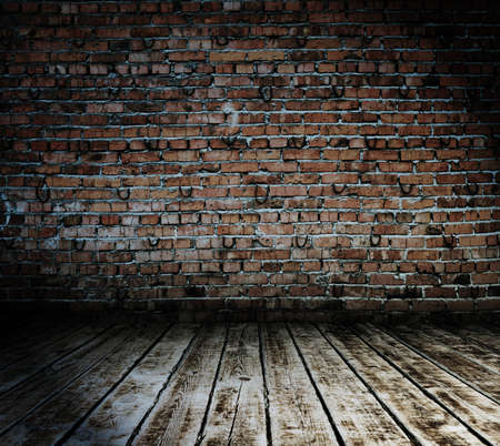 old brick wall: old room with brick wall, vintage background