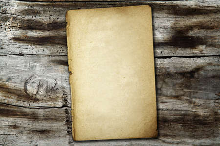 vintage paper on old wood texture Stock Photo - 16162150