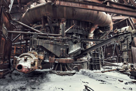 fábrica abandonada, fondo industrial